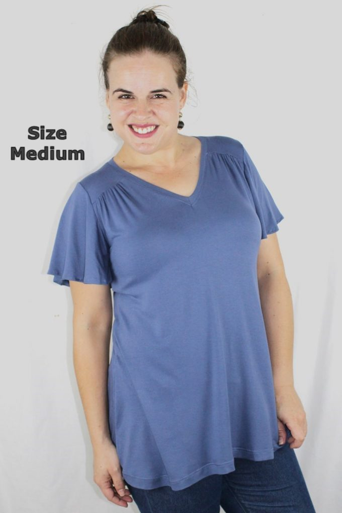 Medium Top Grey Blue